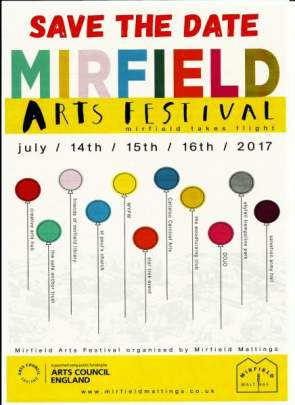 Arts Festival save the date poster 2017