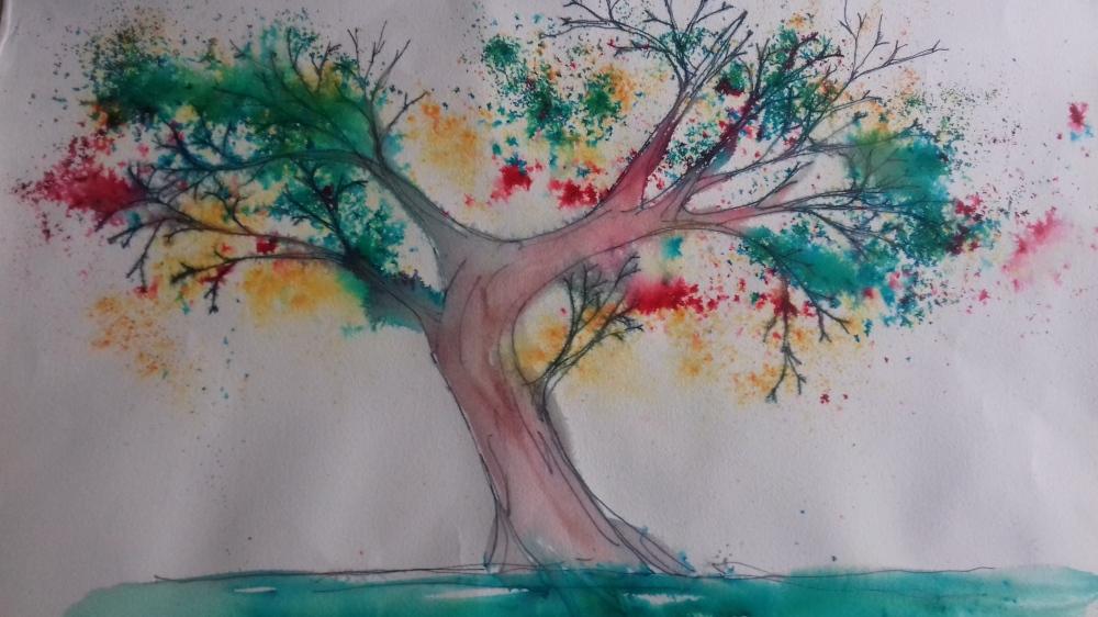 Brusho Tree
