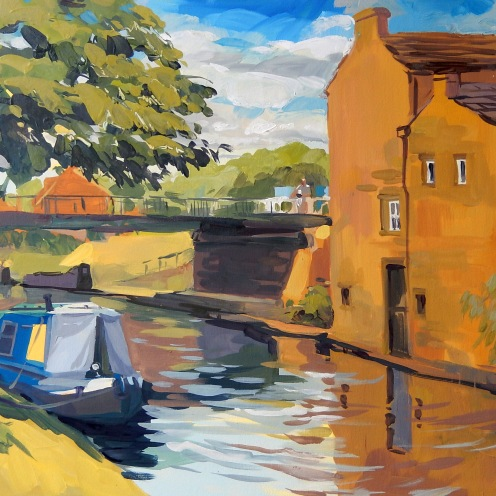 July on the canal, 60x70cm, oil on canvas, 2018