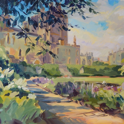 Moat Garden, Windsor, oil on canvas, 60x70cm, 2018